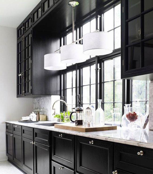 Pictures Of Black Kitchen Cabinets: Blog Tendance Décoration