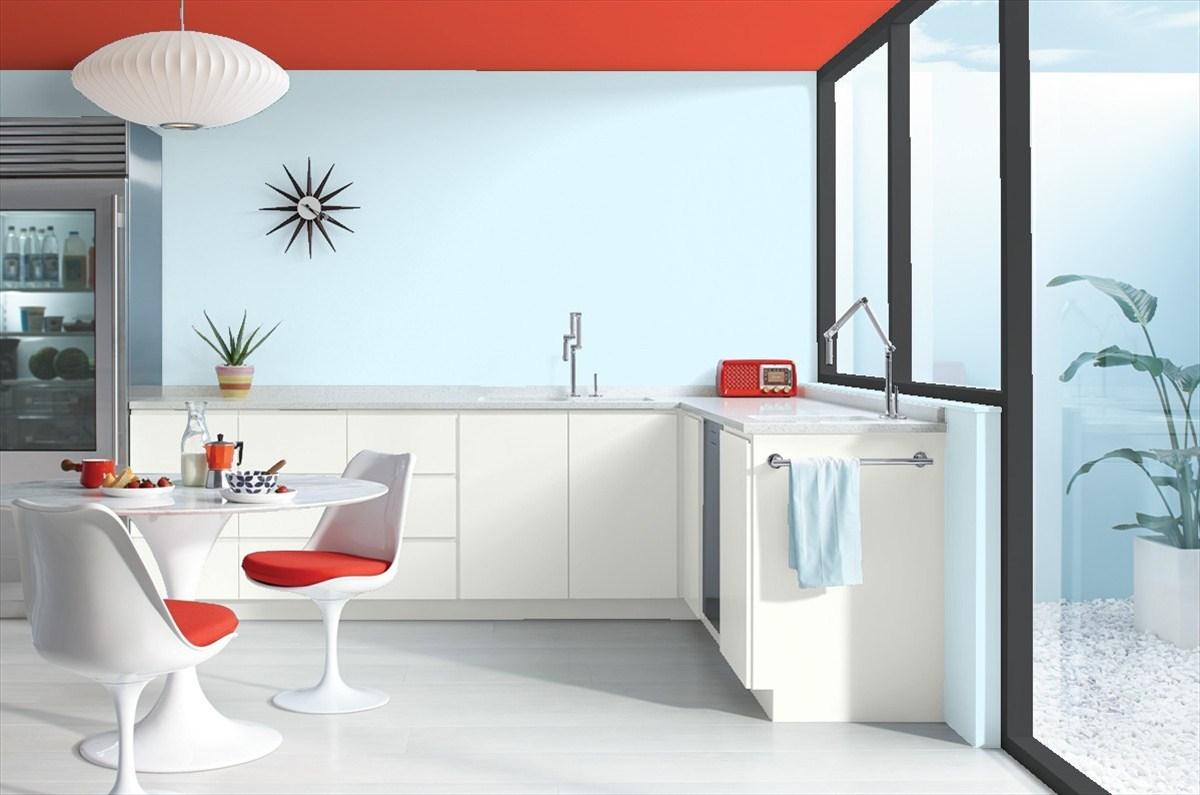 Une cuisine et quatre couleurs blog tendance d coration for Deco cuisine quatre bourgeois